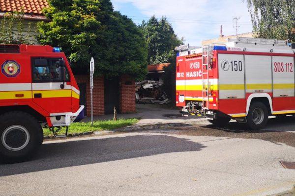 Hasiči zasahovali pri požiari v centre mesta