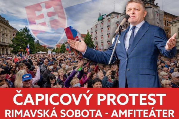 Na protivládnom proteste vystúpi Berky-Mrenica i Čarovné ostrohy. R. Fico poprosil ľudí, aby si priniesli čapice